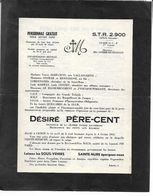 Père Cent Cenon Gironde. 53-2-B. 3 Pages D'humour Militaire. - Faire-part