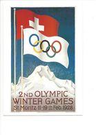 19406 - Saint-Moritz 1928 Jeux Olympiques D'Hiver (Reproduction D'Affiche Format 10 X 15) - Jeux Olympiques