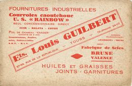 VP-GF.18-58 : BUVARD.  FOURNITURES INDUSTRIELLES  LOUIS GUILBERT TOURS. HUILE GRAISSE SCIE COURROIES POULIES - Buvards, Protège-cahiers Illustrés