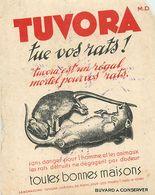 VP-GF.18-60 : BUVARD.  TUVORA. SANS DANGER POUR L HOMME. RAT. RATS. - Blotters