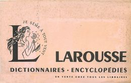 VP-GF.18-63 : BUVARD.  LIVRE. DICTIONNAIRE ENCYCLOPEDIE LAROUSSE - Buvards, Protège-cahiers Illustrés