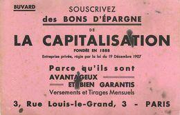 VP-GF.18-69 : BUVARD.  LA CAPITALISATION. BONS D EPARGNE PARIS - Banque & Assurance