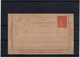 CTN27 - CARTE LETTRE SEMEUSE LIGNEE 50c  DATE 121 OBLIQUE NEUVE STORCH D3 TTB - Cartes-lettres