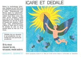 VP-GF.18-73 : BUVARD.  ICARE ET DEDALE - Buvards, Protège-cahiers Illustrés