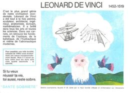 VP-GF.18-74 : BUVARD.  AVIATION. INVENTION.  LEONARD DE VINCI - A