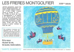 VP-GF.18-75 : BUVARD.  AVIATION. INVENTION.  AEROSATION. LES FRERES MONTGOLFIER. AUBENAS. - Löschblätter, Heftumschläge