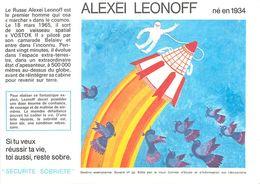 VP-GF.18-77 : BUVARD.  ASTRONAUTE  ALEXEI LEONOFF - Buvards, Protège-cahiers Illustrés