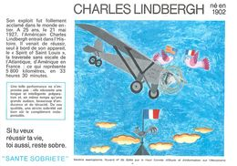 VP-GF.18-79 : BUVARD.  AVIATEUR CHARLES LINDBERGH - Buvards, Protège-cahiers Illustrés