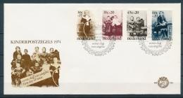 Nederland/Netherlands/Pays Bas/Niederlande 1974 Mi: FDC 1039-1042 Nvph: E136 (Ongebr/MH/Ungebr/*)(3238) - FDC