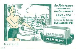 VP-GF.18-85 : BUVARD.  SAVON PALMOLIVE. SPORT. FOOTBALL. - Perfume & Beauty