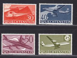 LIECHTENSTEIN AERIENS N°   34 à 37 ** MNH Neufs Sans Charnière, TB (D5265) Avions, Hélicoptère - Poste Aérienne
