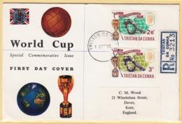 """Beautiful Register Cover Of World Cup Football England 1966 """"Tristan Da Cunha"""". Soccer Stamps - Fußball-Weltmeisterschaft"""
