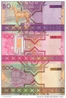 TURKMENISTAN Set (3) 50 100 500 Manat P- 17 18 19 *UNC* - Turkmenistan