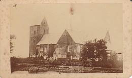 Foto Kirche Mit Friedhof - Ca. 1900 - 11*6,5cm (33350) - Lieux