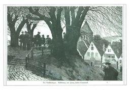 Die Dorfstrategen.( Radierung Von Franz Hecker-Osnabrueck)/ Druck, Entnommen Aus Zeitschrift/1915 - Livres, BD, Revues
