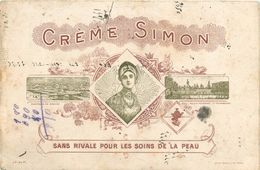 "CREME ""SIMON"" - THEME PARFUM - BUVARD ANCIEN (13 X 20 Cm) - Perfume Cards"