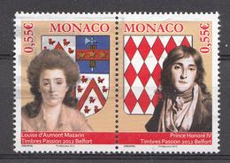 MONACO 2012 Mi.nr.: 3106-3107 Paar Briefmarkenausstellung  OBLITÉRÉS / USED / GESTEMPELD - Gebraucht