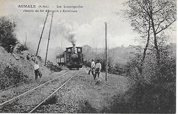 AUMALE - Les Longuignolles - Chemin De Fer D'Amiens à Envermeu Dos Vert Parfait état 2 Scans Edit. Arnould - Aumale