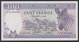 Rwanda 100 Francs 01.08.1982 UNC - Rwanda