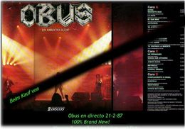OBUS - En Directo - Von 1987 - Neue LP - 100 % Brand News - Hard Rock & Metal