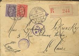 1943  Poste Aux Armées  F.F.L.  Courrier Recommandé Vers LE CAIRE  Nombreuses Marques De Transit - 2. Weltkrieg
