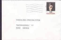 Denmark ODENSE? 1986 Cover Brief To 'Chokolade-Specialisten ODENSE Danish Deef Union Stamp - Briefe U. Dokumente