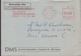 Denmark DMS Det Danske Missionsselskab HELLERUP 1981 Meter Cover Brief ODENSE - Briefe U. Dokumente