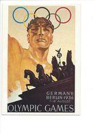 19409 - Berlin 1936 Jeux Olympiques D'Eté (Reproduction D'Affiche Format 10 X 15) - Jeux Olympiques