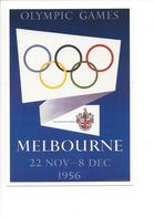 19412 - Melbourne 1956 Olympic Games (Reproduction D'Affiche Format 10 X 15) - Jeux Olympiques