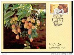 VENDA   CARTE MAXIMUM NUM.YVERT 85 FRUITS SUBTROPICAUX - Venda