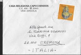 ANGOLA- CERAMICA TRADIZIONALE 1994 SU BUSTA INTESTATA CAPUCCINI - Angola