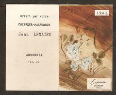 CALENDRIER 1962 PARFUM ESPACE CHERAMY PARIS - COIFFEUR PARFUMEUR JEAN LEMAIRE AMBONNAY MARNE - - Calendriers