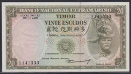 Timor 20 Escudos 24.10.1967 UNC - Timor