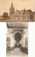 Ettelghem / Ettelgem ( Oudenburg ) : Kerk Binnen-en Buitenzicht ---- 2 Kaarten - Oudenburg