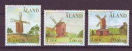 Aland 2001, Windmills 3v Mnh - Aland
