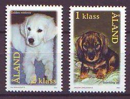 Aland 2001, Puppy Dogs 2v Mnh - Aland