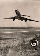 ! DDR Ansichtskarte Interflug TU134, Tupolew - 1946-....: Moderne