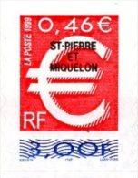 SPM 1999 YT 700 - Euro 3,00F 0,46€ Autoadhésif De Carnet Sans Valeur (LA POSTE) ** - St.Pierre & Miquelon