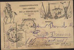 Guerre 14 Carte Correspondance Armées République Tour Eiffel Cuirasser Drapeaux Fusils Cavalier Bateau Canon Avion - Postmark Collection (Covers)