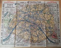 1931 PARIS Plans Recto/Verso METRO + EXPOSITION COLONIALE INTERNATIONALE - Europe