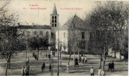 11 SAINT-PAPOUL - La Place De L'Eglise - Très Animée - Autres Communes