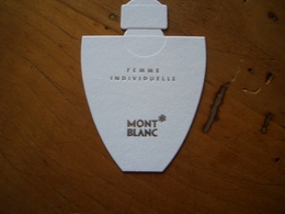 Carte Mont Blanc Femme Individuelle - Perfume Cards