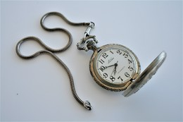 "Watches : POCKET WATCH ""LE VAN"" HAND WIND WITH POCKETWATCH-CHAIN - Original - Running - Orologi Da Polso"