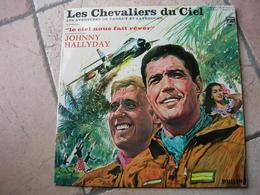 """33 Tours 30 Cm - JOHNNY HALLYDAY - PHILIPS 844537  """" LES CHEVALIER DU CIEL """"  ( Très RARE 33 Tours  ) - Other - French Music"""