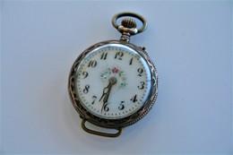 Watches : POCKET WATCH  LADIES SOLID SILVER 1900's - Original - Running - Watches: Bracket