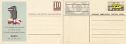 Schweiz Suisse: 2 Postkarten ** 2 CP Neuves: MUBA Basel 1941 & Automobil-Postbureau 1937 - Entiers Postaux