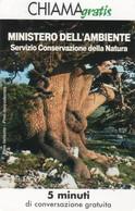 *CHIAMAGRATIS - N.80 - MINISTERO DELL'AMBIENTE* - Scheda NUOVA (MINT) (DT) - Italia