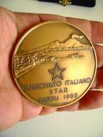 1965  CAMPIONATO ITALIANO STAR NAPOLI  YACHT RACING  SPORT VELA   INC . PEREZ  GRANDE MODULO  MEDAGLIA BIG MEDAL Ø 60 Mm - Remo