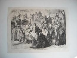 GRAVURE 1873. AUTRICHE. VIENNE. LA GRANDE ALLEE DU PRATER. - Music & Instruments