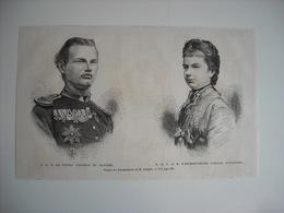 GRAVURE 1873. S. A. R. LE PRINCE LEOPOLD DE BAVIERE. S. A. I. L'ARCHIDUCHESSE GISELLE D'AUTRICHE. - Prints & Engravings